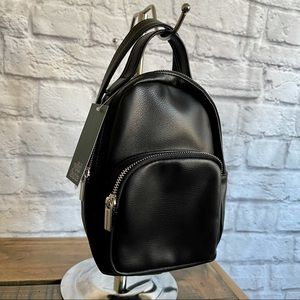 WILD FABLE Mini Black Faux Leather Backpack with convertible Strap